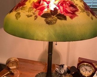 """shade is 18""""diameter and lamp 24""""H"""