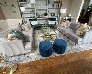 JUST LOOK AT THIS FURNITURE! ( sorry but the area rug will not be for sale)
