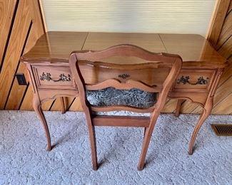 CHERRY Vanity Desk and Chiar