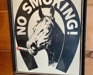 No Smoking Horse Sign