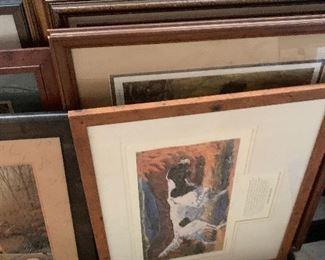 100's of framed art