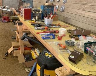 shop vac, tools,