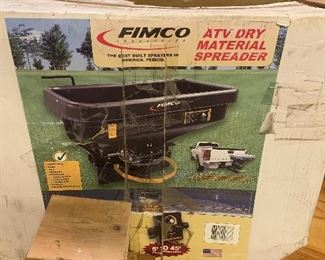 FIMCO ATV DRY MATERIAL SPREADER NEW IN BOX