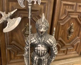 vintage Coat of Armour Fireplace tools