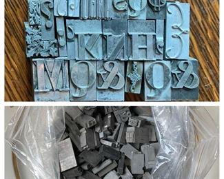 Assorted Metal Letterpress/Printer's Blocks