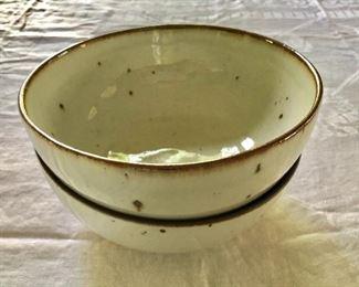 "$90 - Dansk pair of ""Brown Mist""  ""Blue Mark"" serving bowls.  Each 3.25"" H, 8.25"" diam."