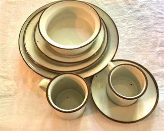"Dansk selection of  ""Brown Mist"" plates, cups, bowls"