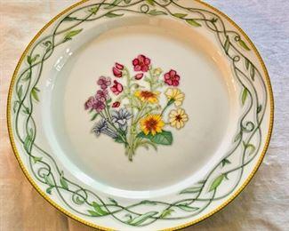 "Dansk ""Tivoli Gardens"" large floral serving platter.  13"" diam."