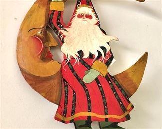 """$30 - Wizard on the moon wood hanging decor """"House of Hatten"""".  15"""" H x 12"""" W."""