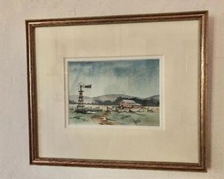 """$125 Durfee signed watercolor #1.  11"""" H x 13"""" W."""