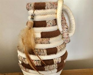 """$65 Woven vase or container   8.5"""" H, 5"""" diam."""