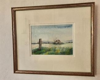 """$125 Durfee signed watercolor #2.   11"""" H x 13"""" W."""