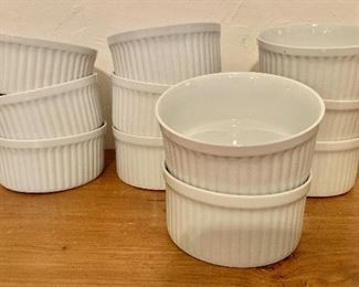 "$8 each (11 available) white Dansk ramekins.  Each 2"" H, 4.5"" diam."