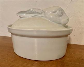 "$40 - Apilco bunny casserole dish.  6.5"" H, 9"" L, 6.75"" W."