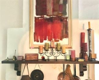 Room view  $650 Cynthia December Oil on canvas abstract painting signed lower right  (SOLD!)