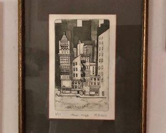 "$140 P J Lederi   ""Mercer Street""  Signed  and numbered print 4/35.   18"" H x 13.75"" W."