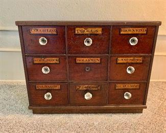"""$350  Vintage organizer 19"""" H, 25"""" W, 10"""" D."""