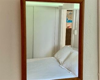 "$95  Vintage MCM mirror 24.5"" H x 13.5"" W."