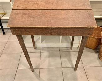 """$150  Vintage rustic desk 36"""" H, 28.5"""" W, 21.5"""" D."""