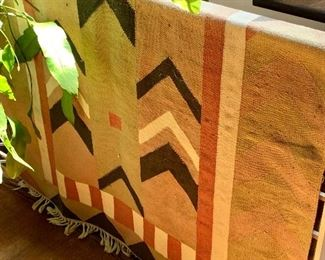 """$190  Woven rug #2 - 79"""" L x 49"""" W."""