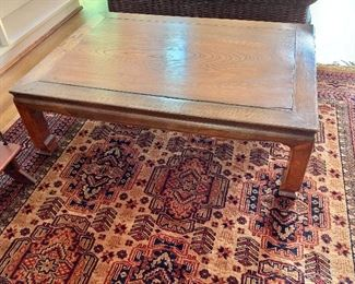 """$275  Chinese elmwood low table: 41.5"""" L, 29.75"""" W, 13"""" H."""