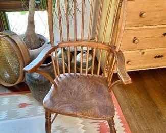 "$195 Vintage windsor chair.  42.25"" H, 23.5"" W, 17"" D."