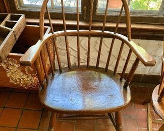 """$140 Vintage Windsor chair #2 -  36"""" H, 25"""" W, 22"""" D, seat height 17.5"""""""