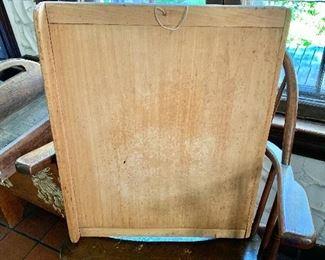 """$60  Vintage cutting board.  24"""" H, 19"""" W, 2.75"""" D."""