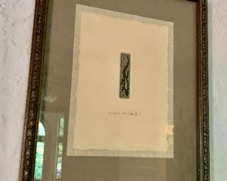 """$140  Lace lizard signed and numbered print 79/100.   15"""" H x 12"""" W."""