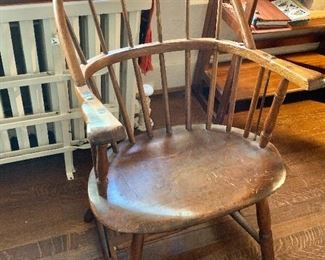"""$195  Vintage Windsor chair #4 - 33"""" H, 22.5"""" W, 16"""" D, seat height 17""""."""