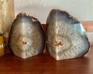 $45 Pair geode bookends
