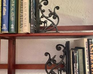 """$80 -  Pair metal bookends.  Each  10.25"""" H, 6.5"""" W, 3.75"""" D."""