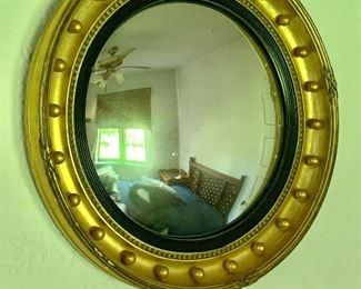 "$150 -  Regency style gilt gessoed convex mirror -  22"" diam."