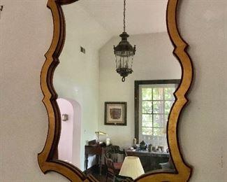 "$175  Vintage gilded mirror.  29"" H x 26"" W."
