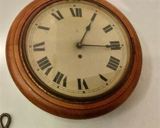 "$225 - Vintage wall clock.  16"" diam, 3.5"" D."