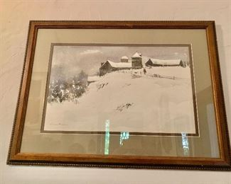 "$295 Bogomir Bogdanovic (American-Yugoslavian 1923-2011) signed watercolor.  24.5"" H x 33"" W."