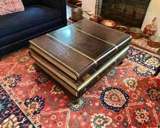 """$500  """"Stack of Books"""" coffee table with drawers! 17"""" H, 36"""" W, 28"""" D."""