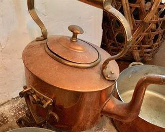 $150 - Copper tea kettle #2