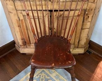"""$125  Vintage Windsor chair #9 - 35"""" H, 22.5"""" W, 16.5"""" D, seat height 16.75""""."""