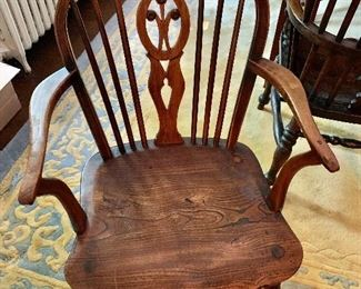 """$175 -  Vintage chair #10 - 34"""" H, 19"""" W, 16"""" D, seat height 16""""."""