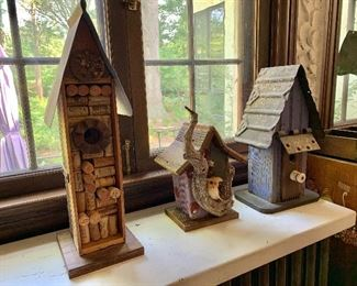Hand crafted bird houses