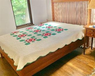 """$750   MT Maxwell Furniture  full size bed.  Headboard 54"""" H, 58"""" W."""