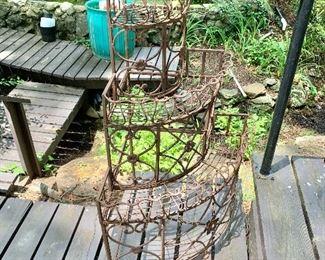 $95 - Vintage wire corner plant stand