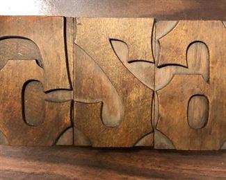 $40 Set of 3 printing blocks