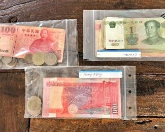 $60  Lot Chinese currency