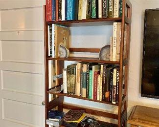 """Another folding shelf (#10)!  $120: 74"""" H, 28"""" W, 11.75"""" D."""