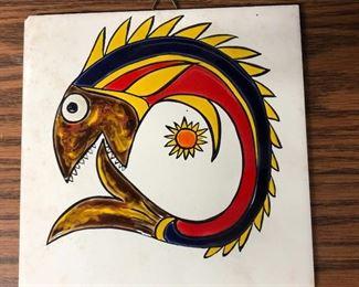 $20 - Fish ceramic tile