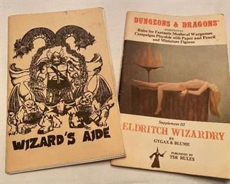 Vintage Dungeons and Dragons manuals