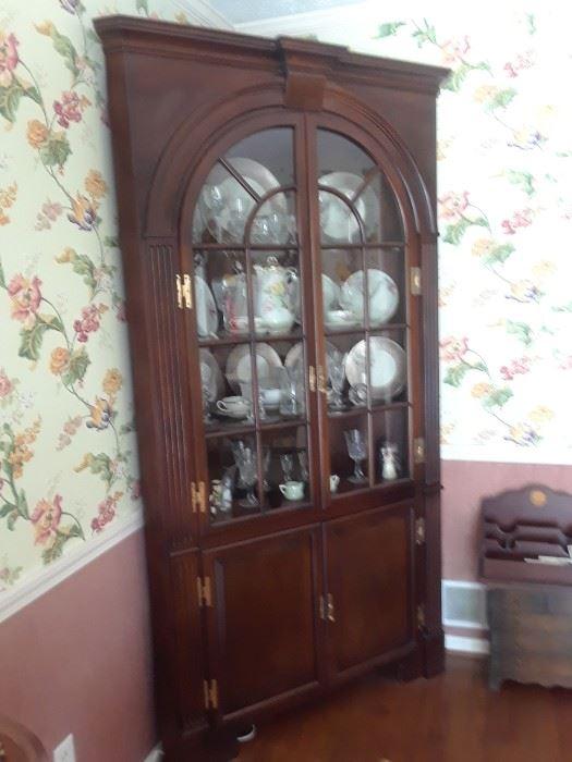 Corner cabinet, mahogany