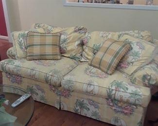Two cushion sofa, down filled cushions